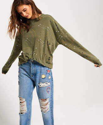 Superdry Edgy Nibbled Crew Sweatshirt