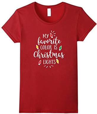My Favorite Color is Christmas Lights T-shirt