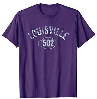 Louisville 502 Area Code T-Shirt Distressed Vintage Tee
