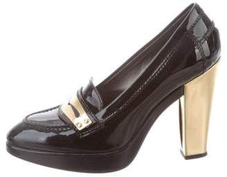 Hogan Patent Leather Platform Pumps