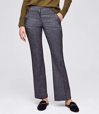 LOFT Petite Trousers in Button Pocket in Julie Fit