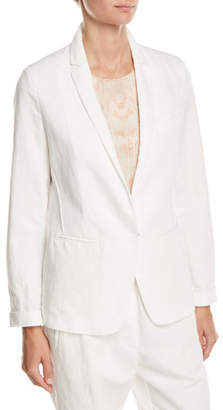 Forte Forte Cotton-Linen Single-Button Jacket
