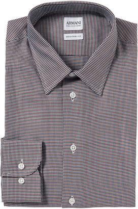 Armani Collezioni Printed Modern Fit Dress Shirt