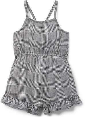 Crazy 8 Crazy8 Toddler Checked Ruffle Romper