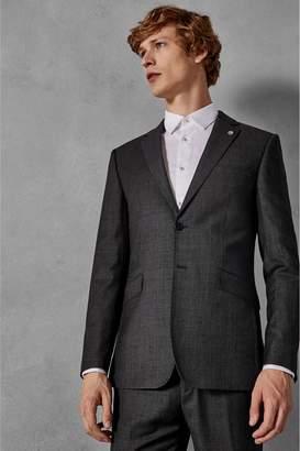 Next Mens Ted Baker Grey Ursus Sovereign Micro Design Suit Jacket