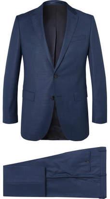 HUGO BOSS Navy Novan Virgin Wool Three-piece Suit