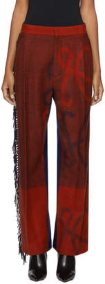 Loewe Navy and Red Blanket Trousers