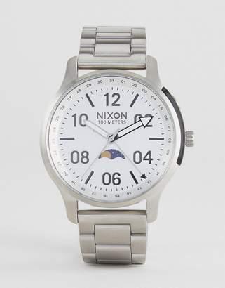 Nixon A1208 Ascender Bracelet Watch In Silver