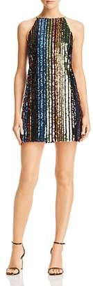 Aqua Rainbow Sequin Stripe Mini Dress - 100% Exclusive