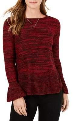 Style&Co. Style & Co. Petite Marl Ruffle Sweater