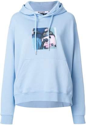 House of Holland sweeper print hoodie