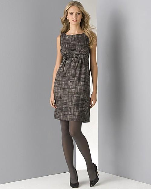 DKNY Women's Silk Twill Tweed Printed Sheath Dress
