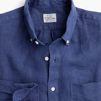J.Crew Garment-dyed shirt in Irish linen