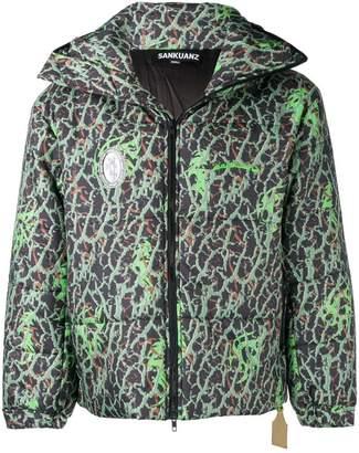 Sankuanz patterned padded jacket
