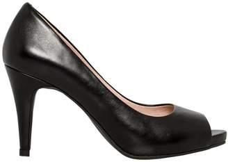 Le Château Women's Leather Peep Toe Platform Pump