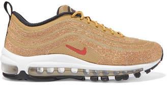 Nike Air Max 97 Swarovski Crystal-embellished Mesh Sneakers - Gold