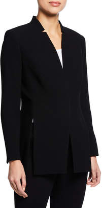Elie Tahari Ava One-Snap Slit Blazer Jacket