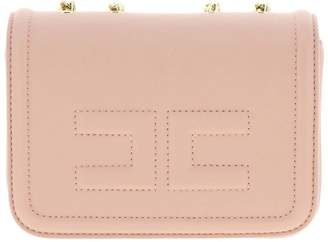 Elisabetta Franchi Mini Bag Mini Shoulder Bag In Synthetic Leather With Logo