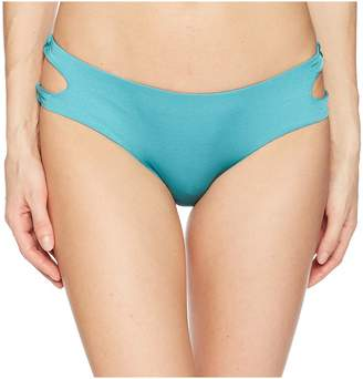 THE BIKINI LAB Solid Cutout Hipster Bikini Bottom Women's Swimwear