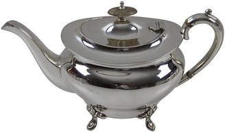 One Kings Lane Vintage English Plain Oval Teapot - C.1880