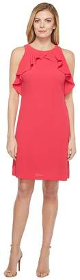 Jessica Simpson Solid Dress with Ruffle Neck Women's Dress