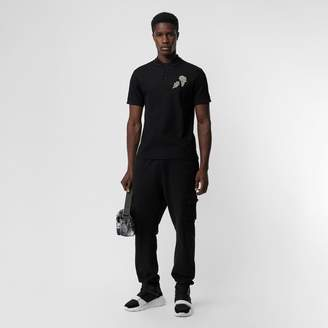Burberry Bullion Floral Cotton Piqué Polo Shirt