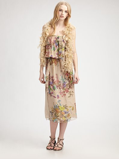 Haute Hippie Feather Sequin Vest