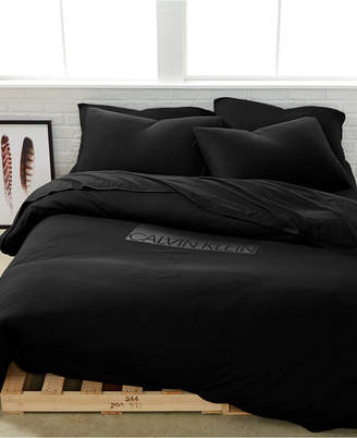 Calvin Klein Modern Cotton Harrison Black Twin Duvet Cover Bedding