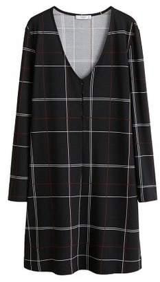 MANGO Button knit dress