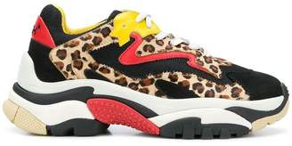 Ash leopard lace-up sneakers