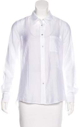 Elizabeth and James Open-Back Button-Up Top