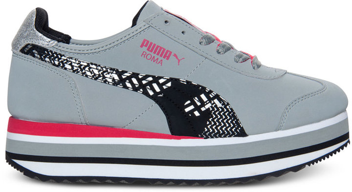 Puma Women's Roma Slim Stacked Casual Sneakers from Finish Line
