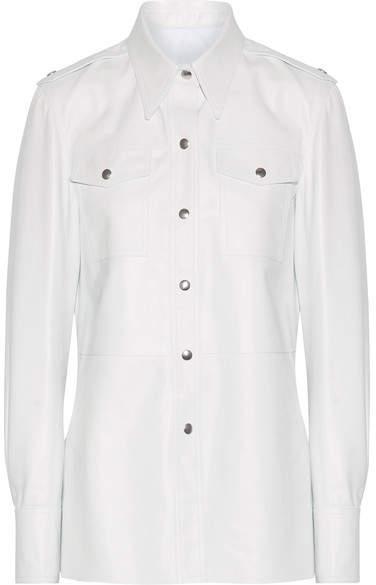 CALVIN KLEIN 205W39NYC - Leather Shirt - White