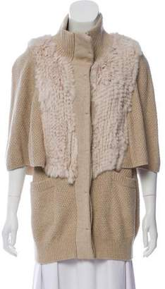 3.1 Phillip Lim Wool Fur Trimmed Cardigan