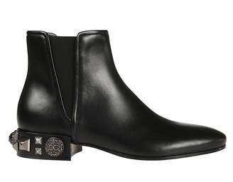 Dolce & Gabbana Studded Ankle Boots