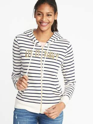Old Navy Relaxed Logo-Graphic Zip Hoodie for Women