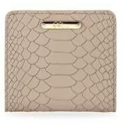 GiGi New York Python Leather Mini Folding Wallet