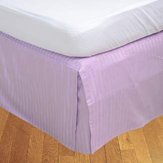 "RBS Bedding's 400 Thread Count Egyptian Cotton 1-Piece Split Corner Bed Skirt 21"" Drop Length Stripe"