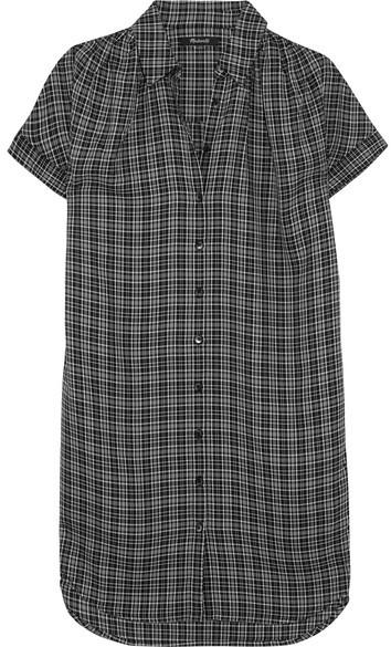 Madewell - Plaid Flannel Shirt Dress - Black