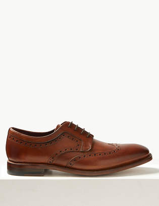 M&S CollectionMarks and Spencer Leather Brogue Shoes