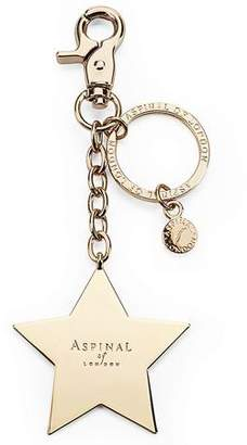 Aspinal of London Gold Plated Star Handbag Charm & Keyring