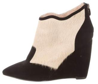 Lola Cruz Suede Wedge Boots