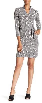 Donna Morgan Printed Jersey Shirt Dress