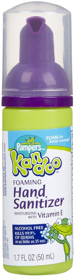 Pampers Kandoo Kandoo Travel Size Foaming Hand Sanitizer - Unscented