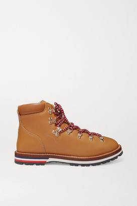 Moncler Blanche Shearling-lined Leather Ankle Boots - Tan
