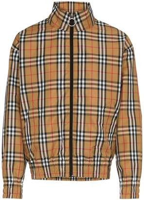 Burberry house check-print jacket