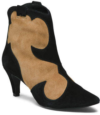 Made In Brazil Two Toned Ankle Booties