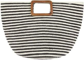 Accessorize Eleanor Stripy Handheld Tote Bag - Black/White