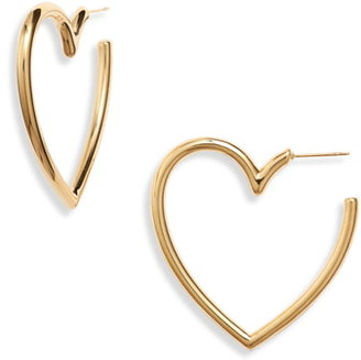 Helena Ellie Vail Heart Hoop Earrings
