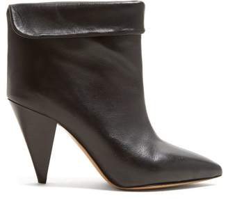 Isabel Marant Lisbo Leather Ankle Boots - Womens - Black